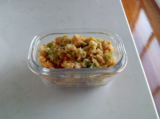 Salmon and veggies puree