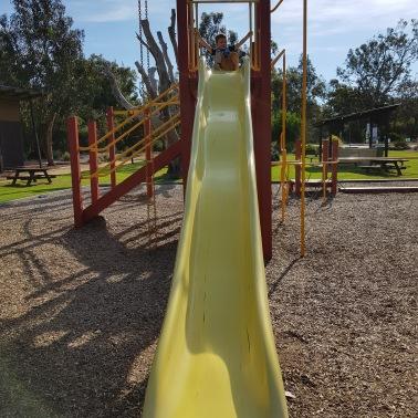 Tall slide