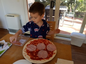 Concentrating on making Pizza