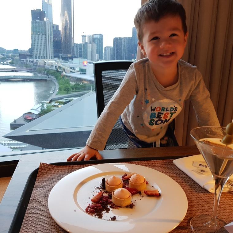 Yummy Cake and Mama's classic Martini :)